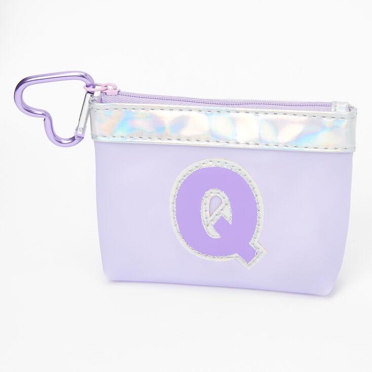 Purple Initial Coin Purse - Q,