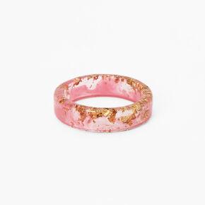 Pink & Gold Flake Print Ring,