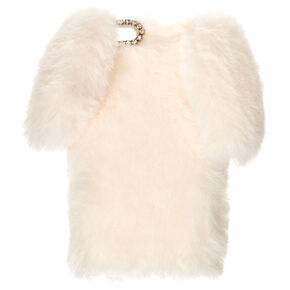 White Fur Bunny Phone Case - Fits iPhone 6/7/8/SE,
