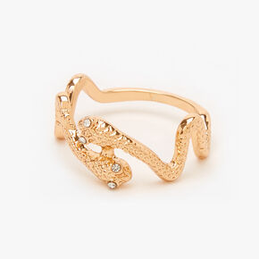 Gold Textured Snake Ring,