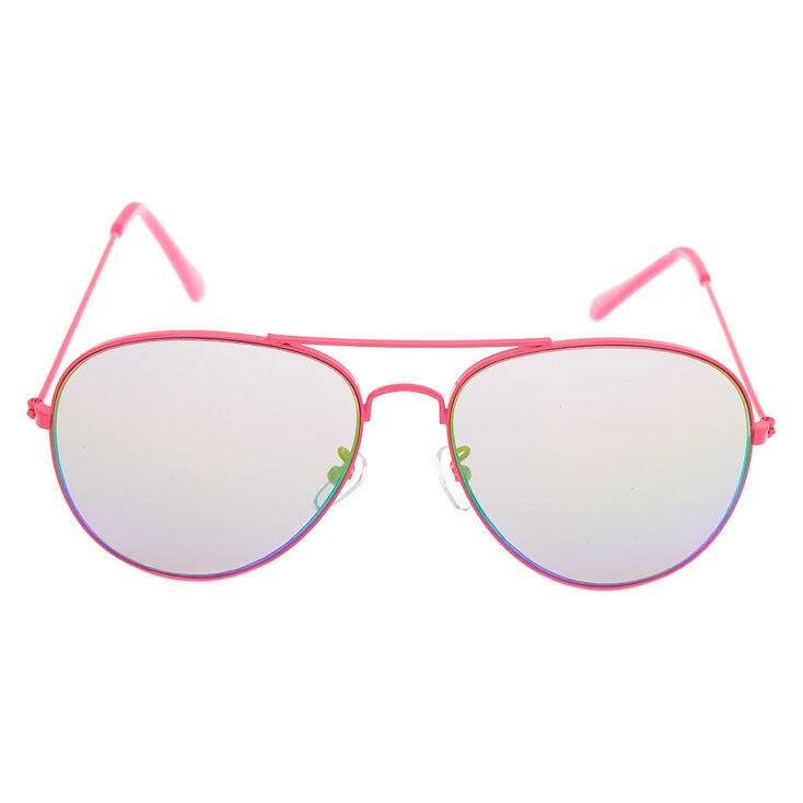 Aviator Sunglasses - Neon Pink,