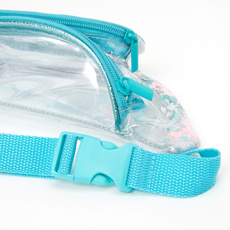 Unicorn Confetti Shakey Bum Bag - Turquoise,