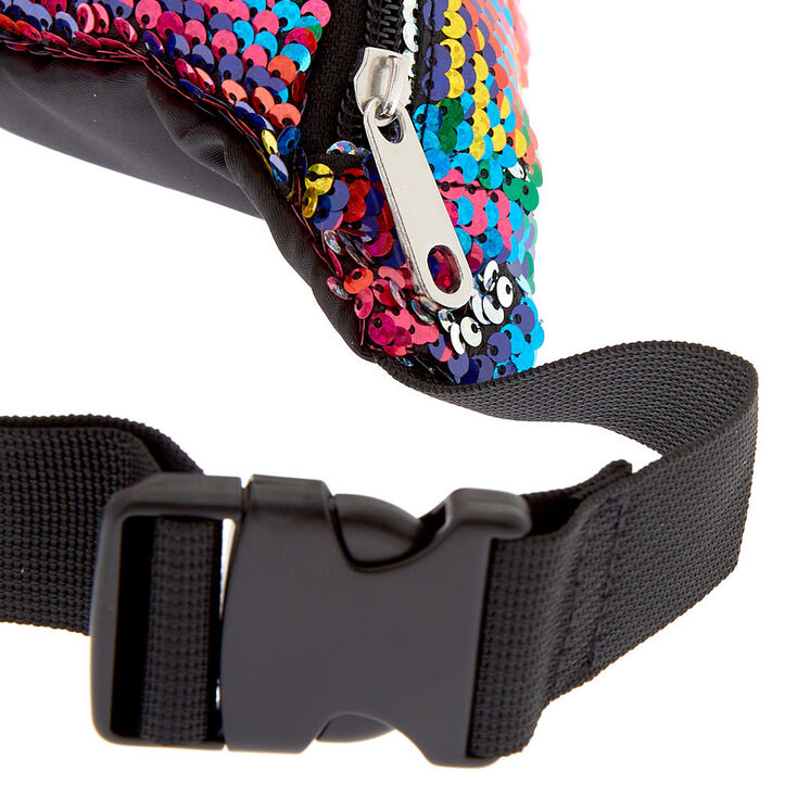 Reversible Sequin Rainbow Fanny Pack,