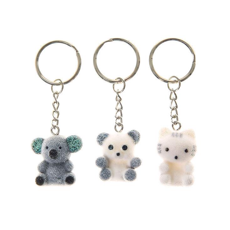 lot de 3 porte cl s ours koala et panda en peluche claire 39 s fr. Black Bedroom Furniture Sets. Home Design Ideas