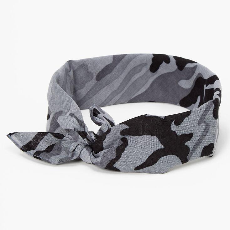 Camo Bandana Headwrap - Black,