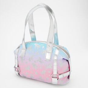 Claire's Club Pastel Metallic Unicorn Tote Bag,