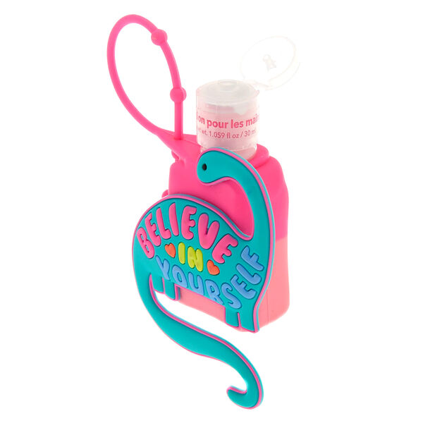 Claire's - believein yourself dinosaur holder with cherry scented hand lotion - 2
