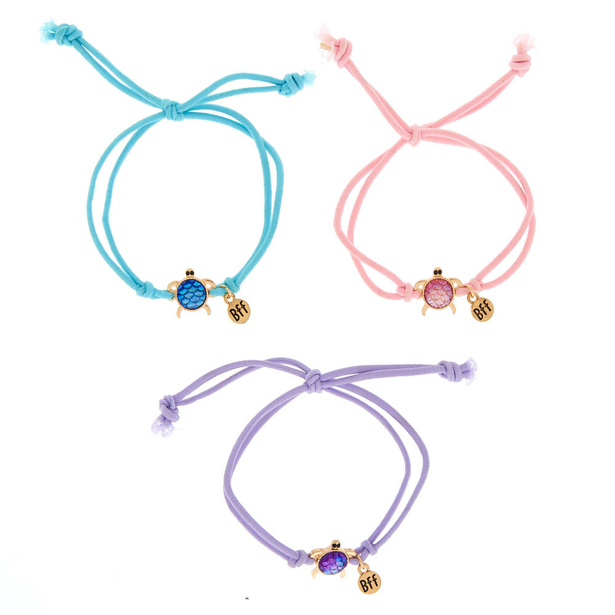 6a4fe65ff3ee6 Pastel Turtle Stretch Friendship Bracelets - 3 Pack