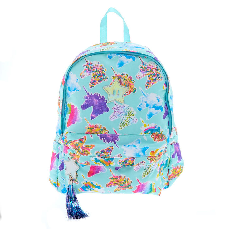 9744993771 Unicorn Print Glitter Backpack - Mint