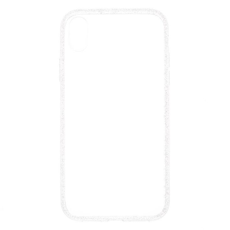Clear Glitter Border Phone Case - Fits iPhone XR,