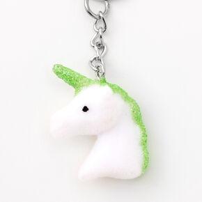 Glitter Unicorn Head Keychains - 5 Pack,