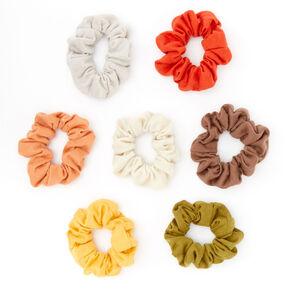 Chouchous couleurs unies tons terreux - Lot de 7,