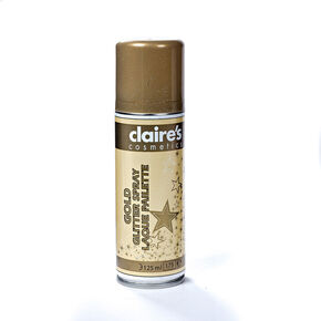 Glitter Temporary Hair Spray - Gold,