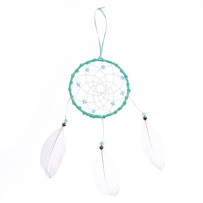 Beaded Feather Hanging Wall Art - Mint,