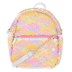 387e5c55cf7 Reversible Sequin Neon Mini Backpack Crossbody Bag