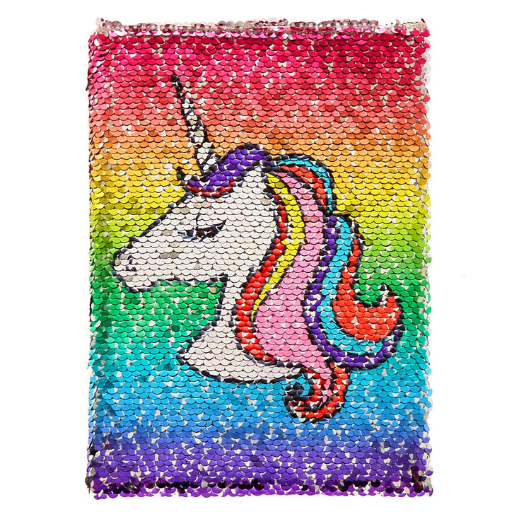 Reversible Sequin Unicorn To Donut Notebook Claire S Us