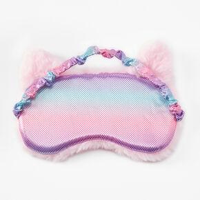 Masque de sommeil chat à initiale - Rose, A,