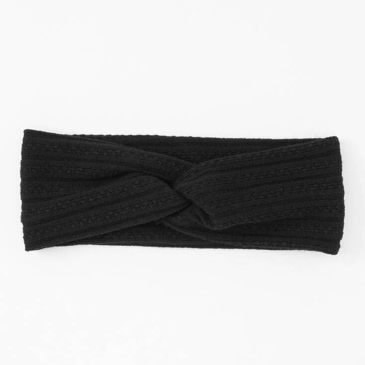Sweater Twisted Headwrap - Black,