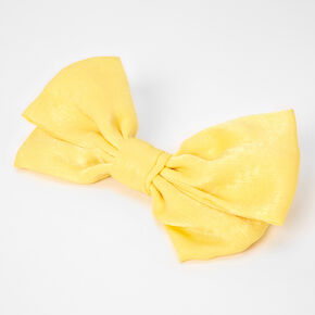 Large Hair Bow Clip - Yellow,