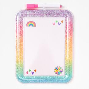 Glitter Rainbow Dry Erase Board,