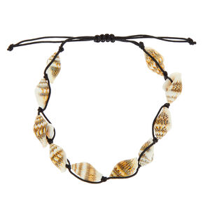 Conch Shell Anklet - Black,