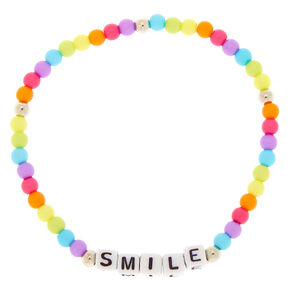 Rainbow Smile Beaded Stretch Bracelet,