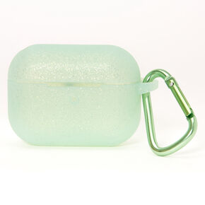 Green Glitter Silicone Earbud Case Cover - Compatible With Apple AirPods pro®,