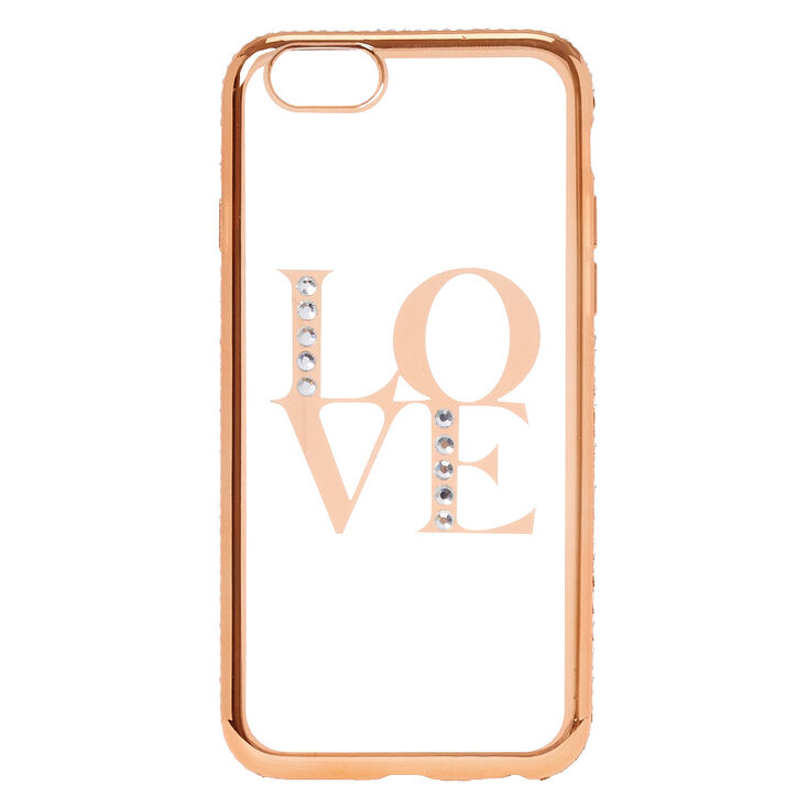 new product aaa24 dc920 Gold Clear Love Phone Case