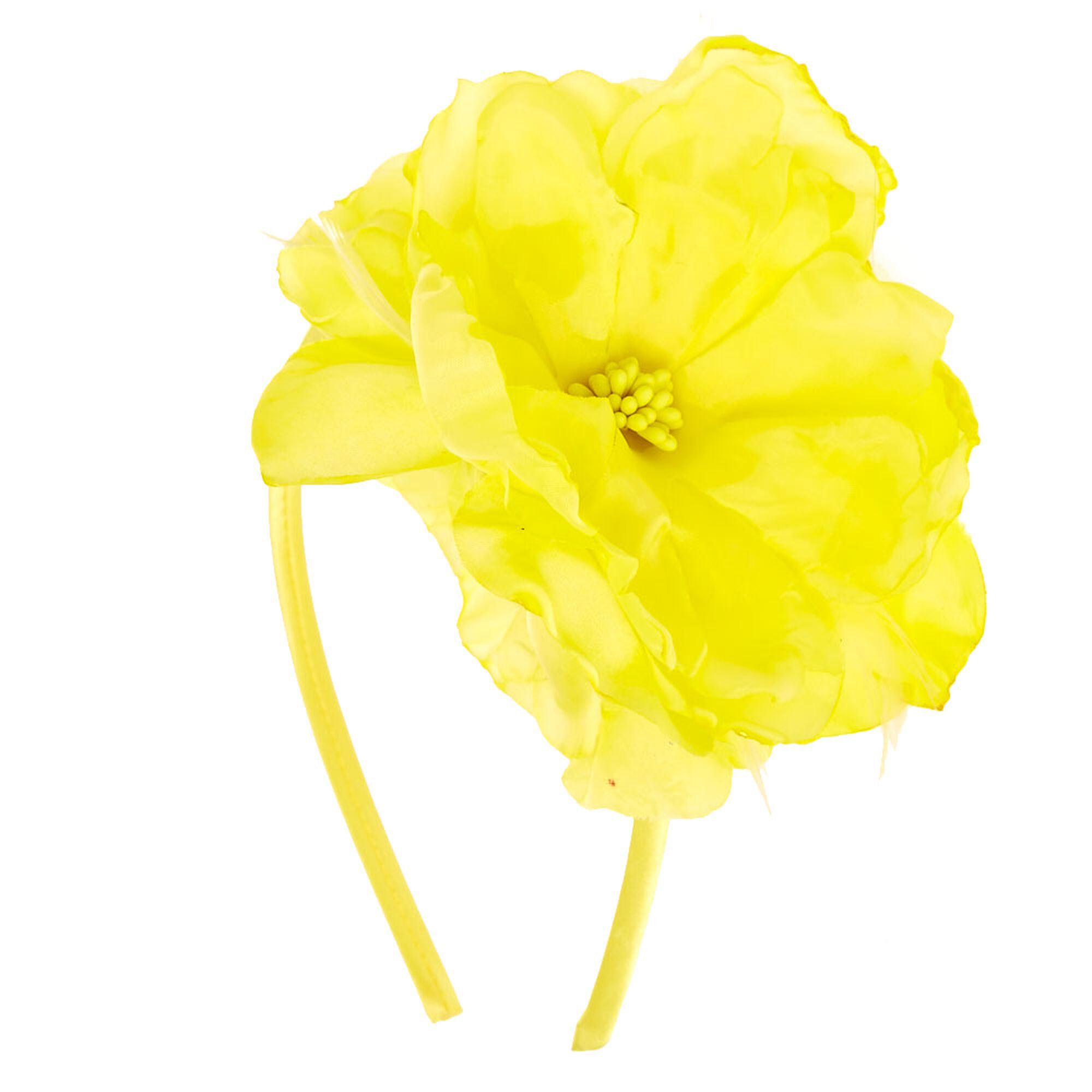 Yellow Hibiscus Flower Headband Claires Us
