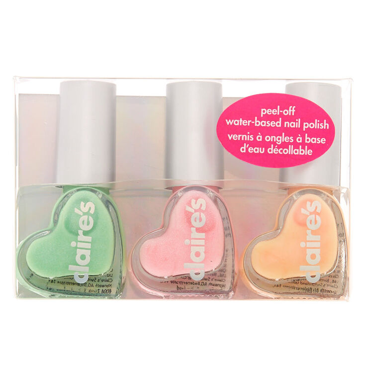 Spring Medley Peel-Off Nail Polish Set - 3 Pack | Claire\'s US