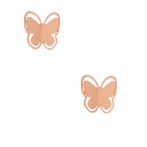 18kt Rose Gold Plated Butterly Stud Earrings,