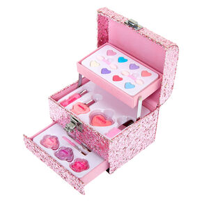 Claire's Club Mini Glitter Mega Case Makeup Set - Pink,