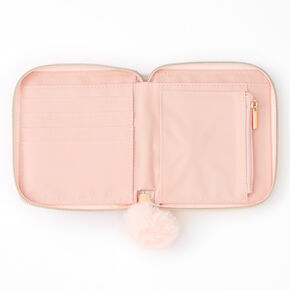 Pink Marble Mini Zip Wallet,
