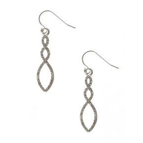 Crystal Treble Twist Drop Earrings,