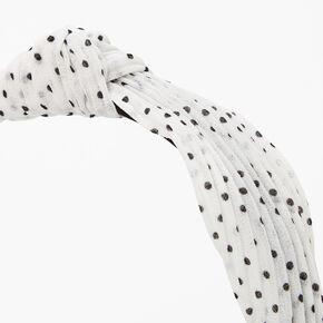 Serre-tête à nœud plissé à pois Claire'sClub - Blanc,