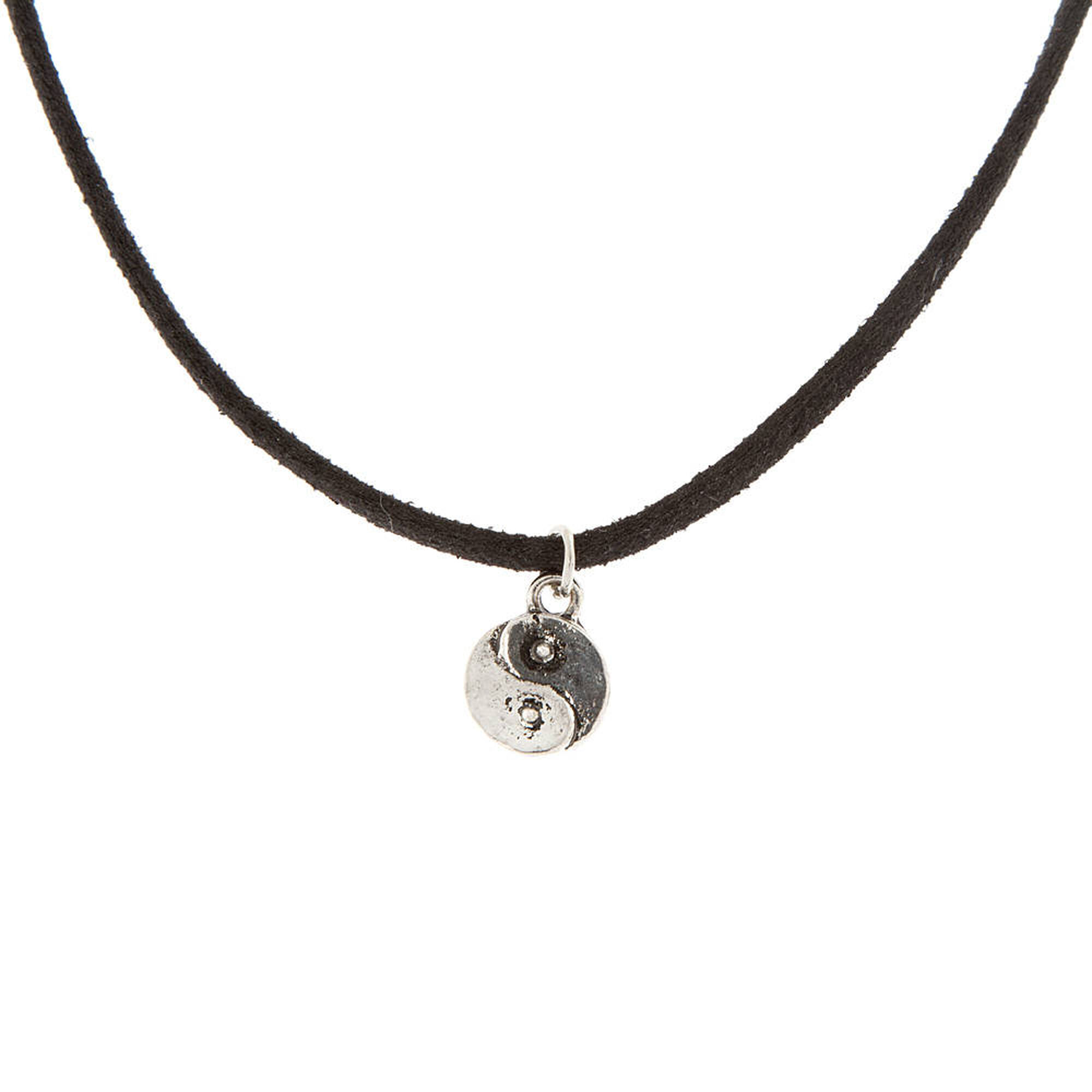 men pendant tai black yin ying sterling silver chinese with necklace white yang cord l