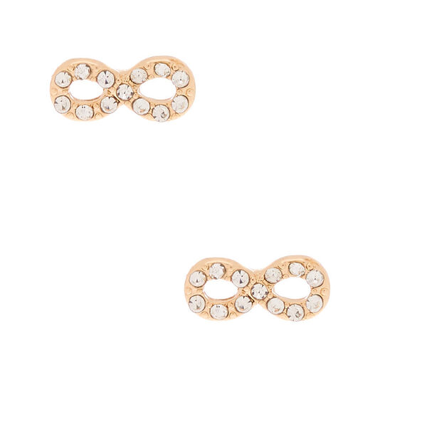 Claire's - crystal infinity stud earrings - 1