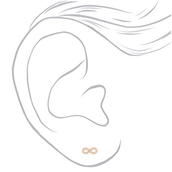 Claire's - crystal infinity stud earrings - 2