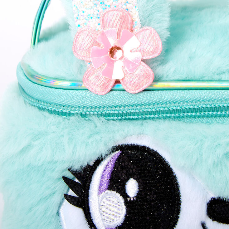 Claire's Club Jade the Bunny Makeup Bag - Teal,