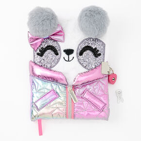 Poppy the Panda Winter Coat Lock Diary - Pink,