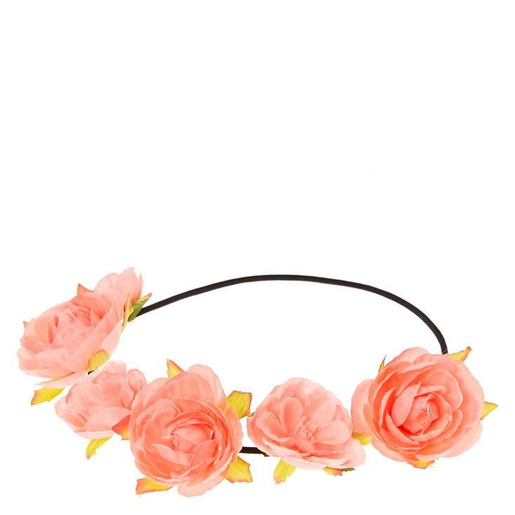 Bandeau de fleurs roses,