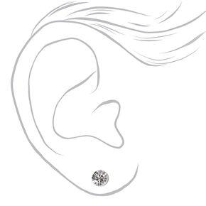 Silver Rhinestone Choker & Earring Set,