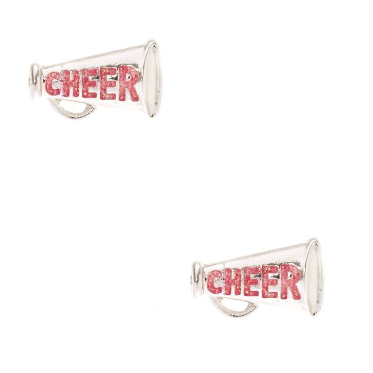 Cheer Megaphone Stud Earrings,