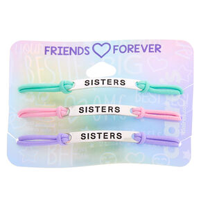 Pastel Sister Adjustable Bracelets - 3 Pack,