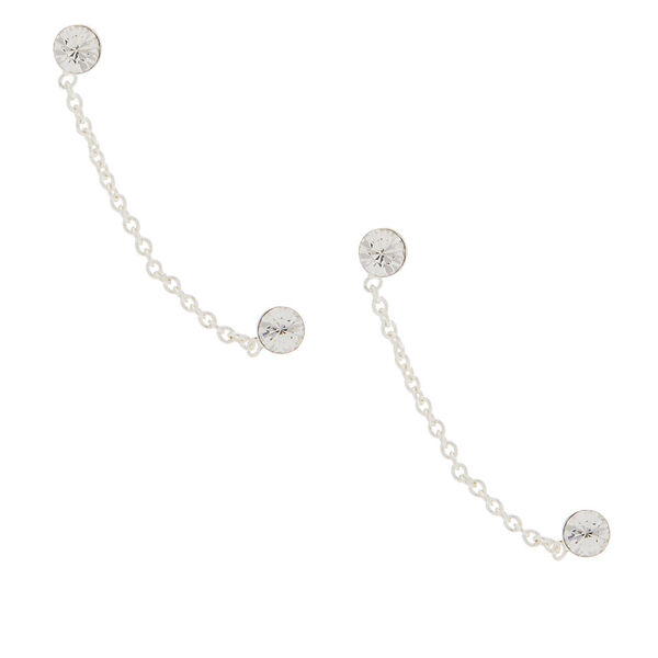 Claire's - sterling 3mm connect drop earrings - 1