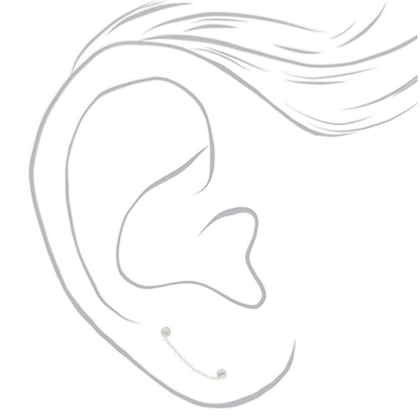 Claire's - sterling 3mm connect drop earrings - 2