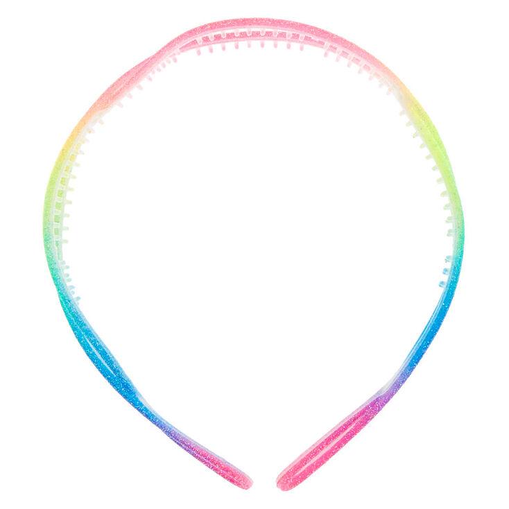 Rainbow Glitter Twist Headband,