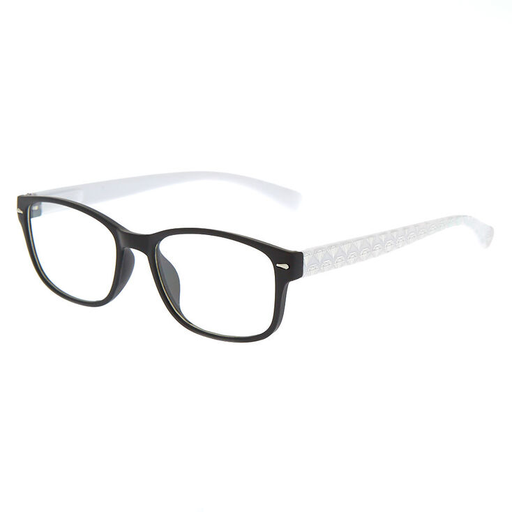 234980a475 Monture de lunettes holographique blanche avec diamant d'imitation,