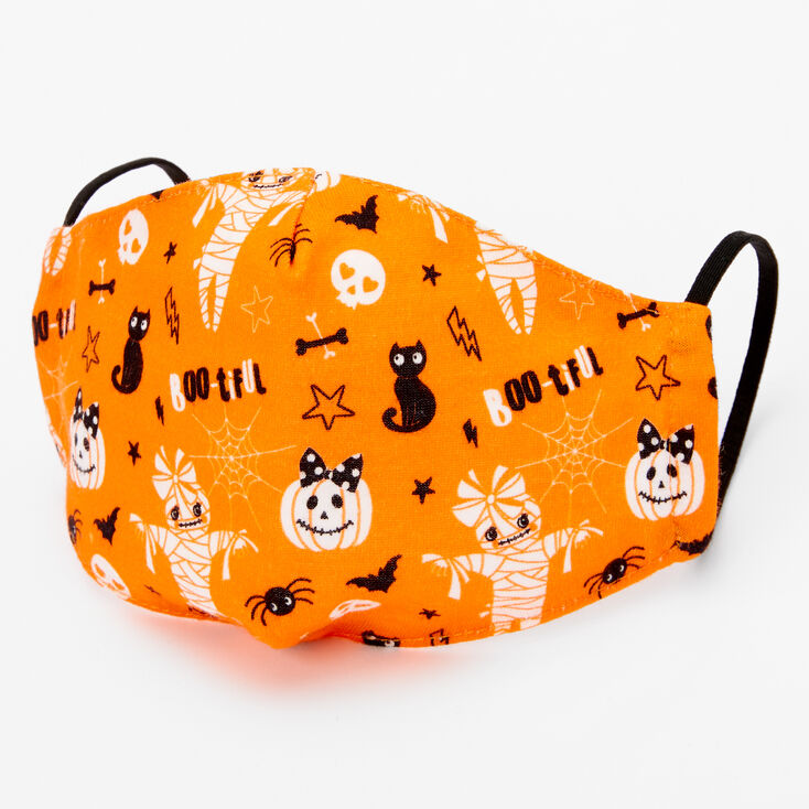 Cotton Orange Boo-tiful Face Mask – Child Medium/Large,