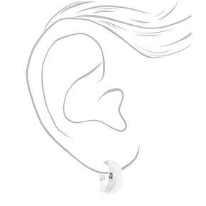Silver 20MM Wide Hoop Earrings,